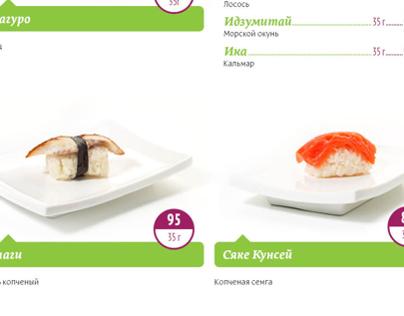 Sushi and japanese food photography for Bambushi