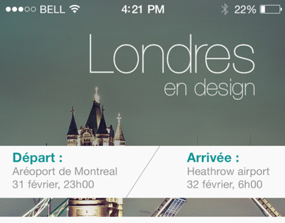 Travel guide app design