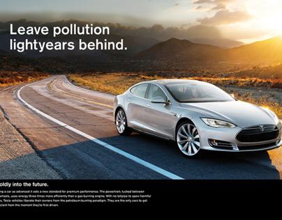 Tesla Print Ads