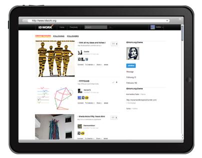 IDWork image bookmark web app