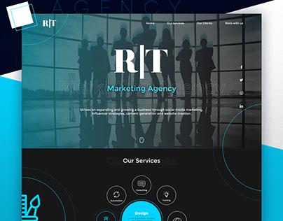 Marketing agency landing page - UI