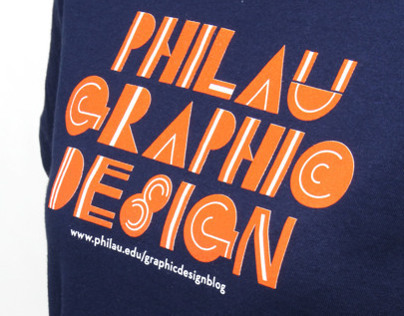 PhilaU Graphic Design T-Shirt & Buttons