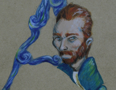 Van Gogh Lettering.