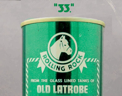 """Rolling Rock Mysterious """"33"""" Print Ads"""