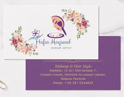 Hafsa Maqsood Makeup Artist Complete Branding Package