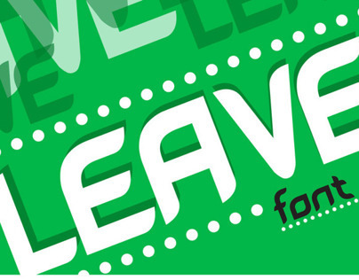 Typography - Leave Font [FREE DOWNLOAD]
