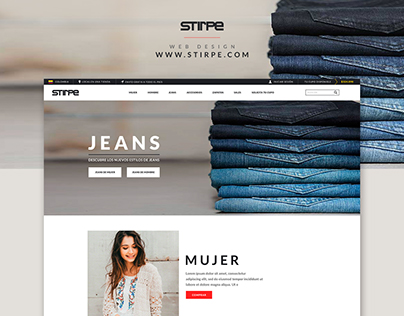 STIRPE Website Design
