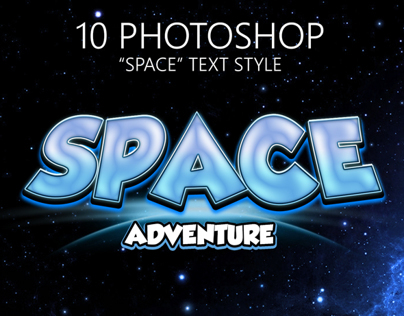 This styles simulate 10 Space Game text effects.