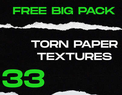 FREE 33 TORN PAPER TEXTURES BİG PACK