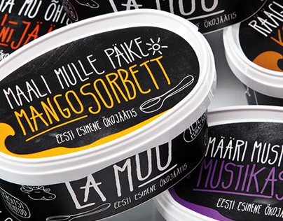 KOOR - La Muu ice cream packaging design