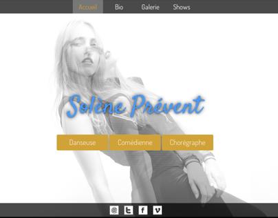 Solène Pévent : website project for an artiste