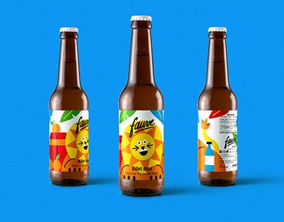 Fauve Beer Label