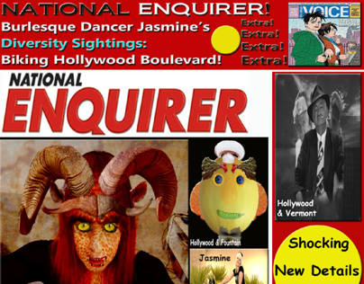 National Enquirer Magazine Front Cover Website Home Pag