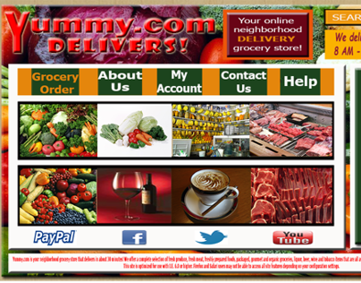 Grocery Food Store Website Redesign Yummydelivers.com