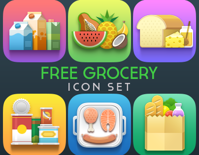 Free Grocery Icon Set