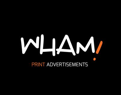 Wham! Print Adverts