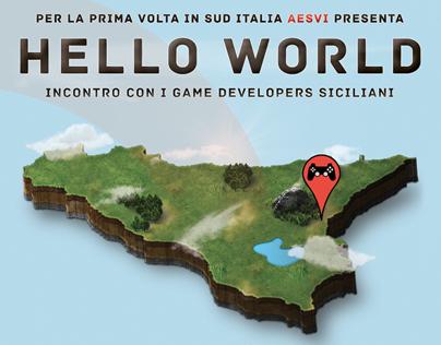 Poster & Website Hello World Catania #AESVI4DEV