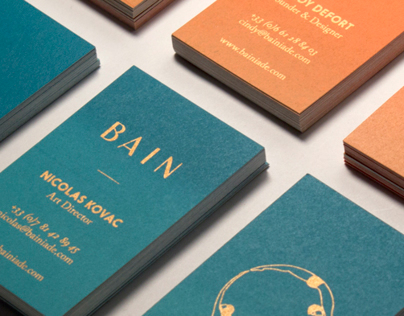 BAIN Silk Printed Business Cards