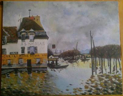 Alfred Sisley - Port-Marly - Replica by Jan Herriger