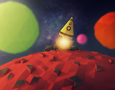 Low Poly 3D: Weltraum
