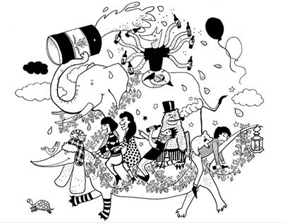 Illustrations for Zeta Beer