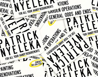 Business Cards for Patrick Nyeleka