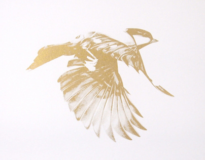 Flight 02 limited edition Gold screen print