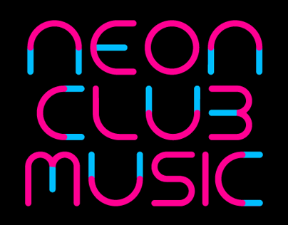 TYPOGRAPHY | FONT – Neon Club Music