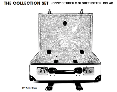 Globetrotter Collab Suitcase Design