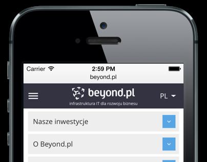 Beyond.pl - website, responsive web design
