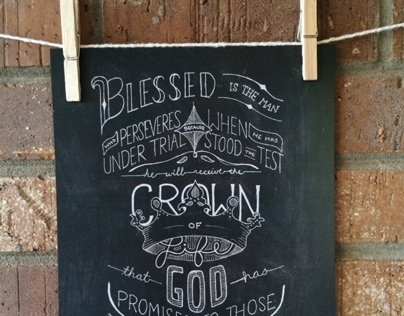 Crown of Life Hand-lettered Print
