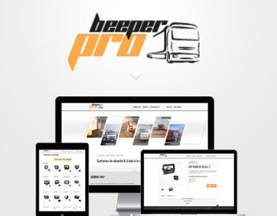 Design / Integration of beeperpro.fr