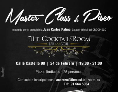 Afiche   Master Class de Pisco    The Cocktail Room