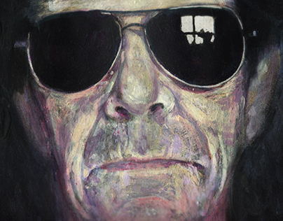 Lou Reed painting