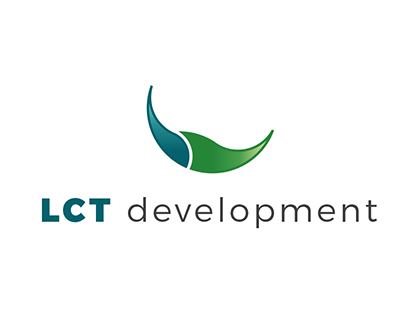 Logo and business card for LCT Development.