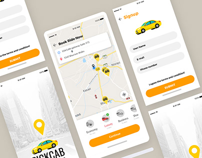Cab Booking App Design