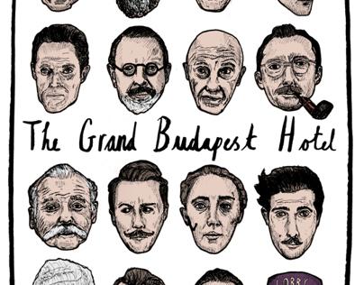 the grand budapest hotel poster on behance. Black Bedroom Furniture Sets. Home Design Ideas