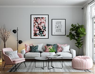 Dream Livingroom - Scandinavian style