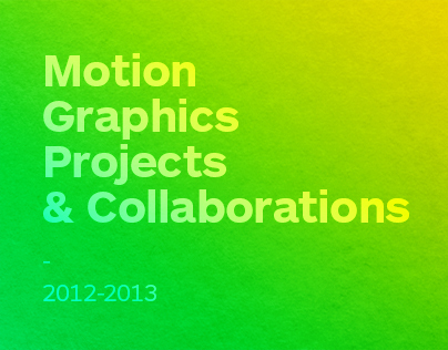 Motion Collabs 2012-2013