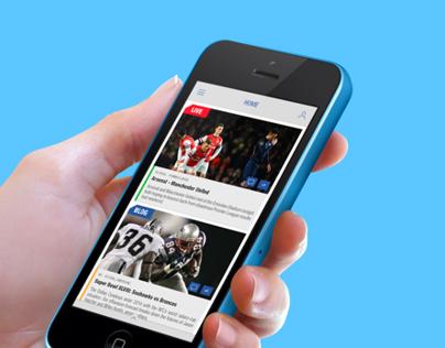 Eurosport Live - iOS App Redesign