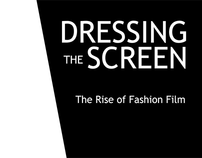 Identity for Dressing the Screen exhibition
