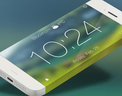 Clock App iOS8   Redesign