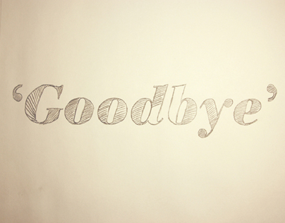'A saying goodbye film' Motion graphic