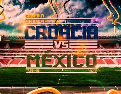 Poster Croacia vs Mexico