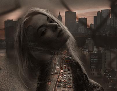 City Double Exposure Portrait