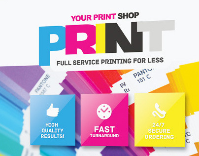 print shop flyer template on behance