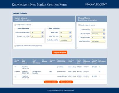 Knowledgent Webapp Layout