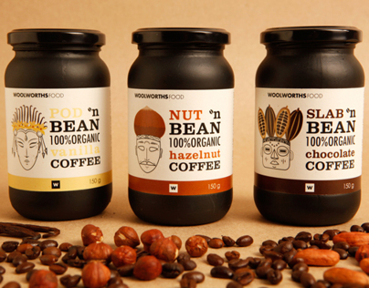 Woolworth Flavoured Coffee Packaging