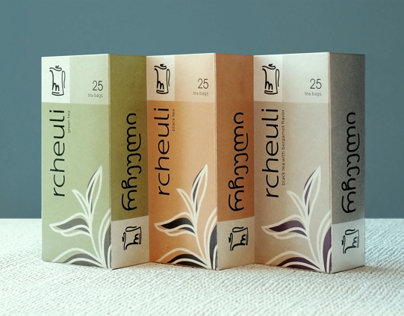 Rcheuli tea packaging