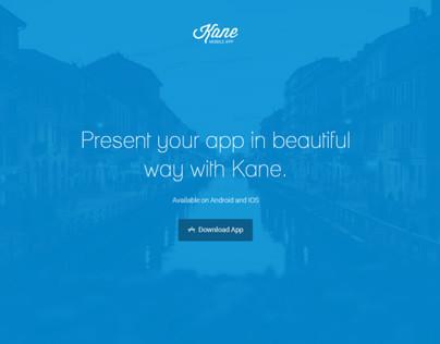 Kane - App Landing Page